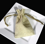 Linen Pouch 3x5 with cord 12/pk