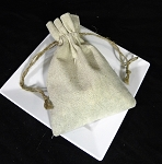 Linen Pouch 5 X 7 with cord 12/pk