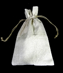 Linen Pouch 6 X 10 with cord  12/pk