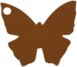 Butterfly tag in chocolate brown (pack of 10)