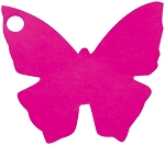 Butterfly tag in fuchsia (pack of 10)