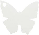 Butterfly tag in white (pack of 10)