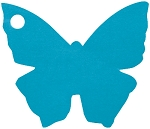Butterfly tag in turquoise (pack of 10)