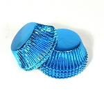 Standard size cupcake liners in Blue foil
