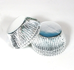 Foil Cupcake liners standard (pack of 100) Silver Foil