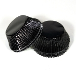 Standard size cupcake liners in Black foil