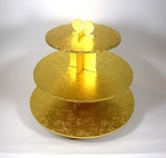 Small 3 tier cupcake stand GOLD