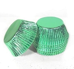 Foil Cupcake liners standard (pack of 100) GREEN Foil