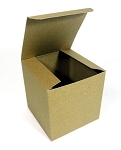 Kraft single cupcake box / gift box 4 x 4 x 4