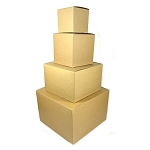 Folding gift boxes  KRAFT  pack of 25 (choose size)