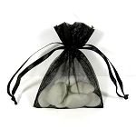 Small 3x4 organza bag with pull ribbon handles  (packs of 10)