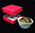 Will hold a single truffle or chocolate or small candies