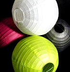 Round even ribbing paper lanterns