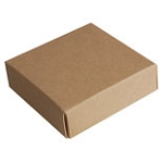 Cover -3 oz Kraft Plain 25/pk