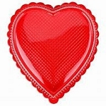 8 oz Clear heart- Red Base - 6-1/4 x 5.-3/4 x 7/8