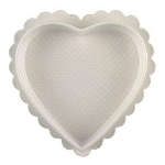 8 oz Clear heart- White Base - 6-1/4 x 5.-3/4 x 7/8