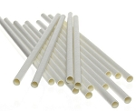 Bulk Paper straws, white 197mm x 6mm - Carton of 2400