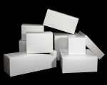 Folding gift boxes  WHITE  pack of 25 (choose size)