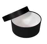 Medium round mod box black