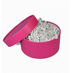 Medium round mod box fuchsia