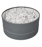 Large round mod box GREY