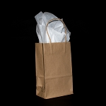 Prime Recycled Kraft paper shoppers PACK OF 25 $11.50/pk (.46/ea)