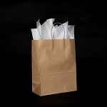 Vanity Recycled Kraft paper shoppers FULL CASE OF 250 $110.00/pk (.44/ea)  10x5x13
