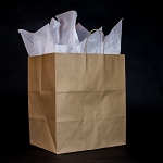 BISTRO Recycled Kraft paper shoppers FULL CASE OF 200 $140.00/pk (.70/ea)  14X