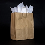Celebrity Recycled Kraft paper shoppers PACK OF 25 $15.00/pk (.60/ea)  13x6x15