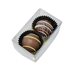2 Truffle box Clear (100/pack)