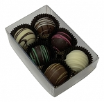 6 Truffle box Clear (100/pack)